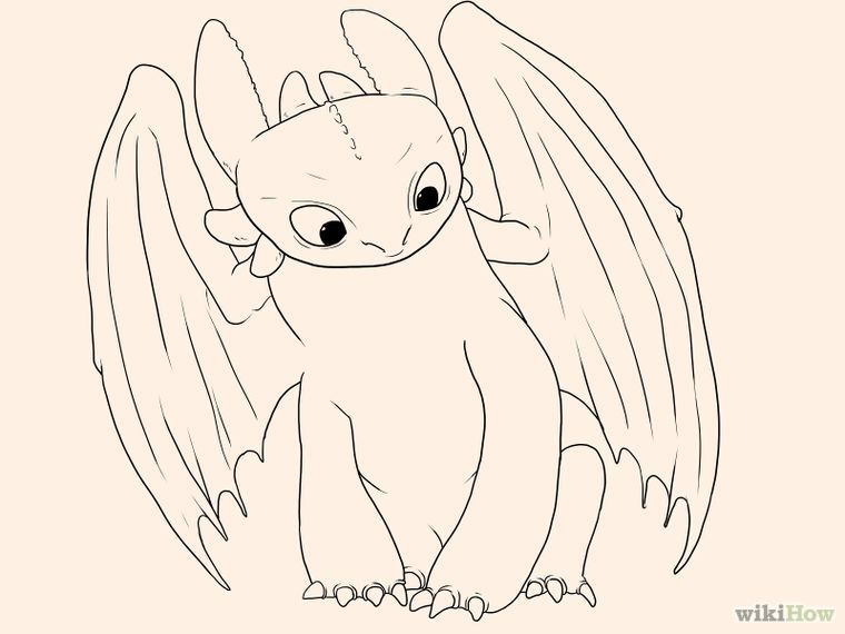 how to draw toothless dragoart