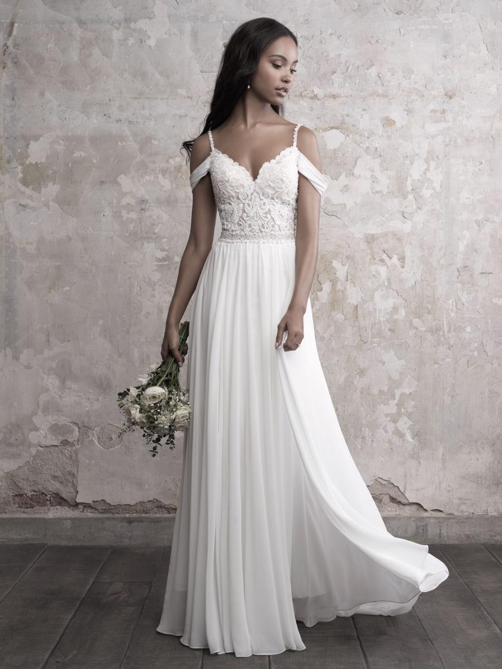 Sweetheart Bodice Silk Skirt A-line Wedding Dress | Kleinfeld Bridal