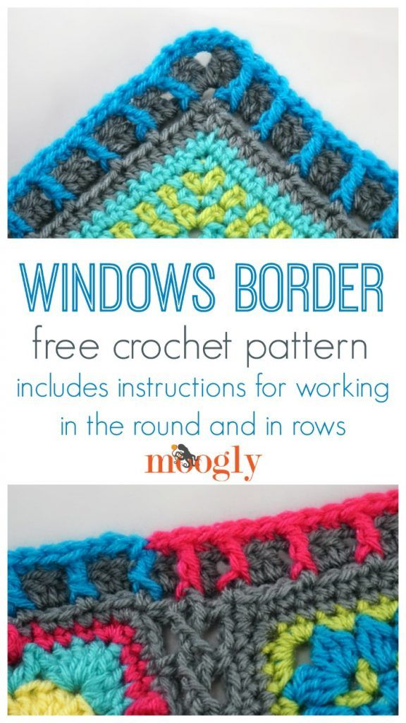 Windows Border - free crochet edging pattern on Moogly! | Crochet ...