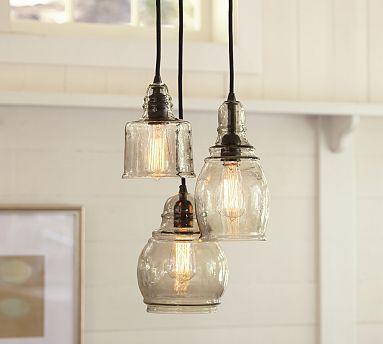 paxton 3 light gls pendants glass and lights