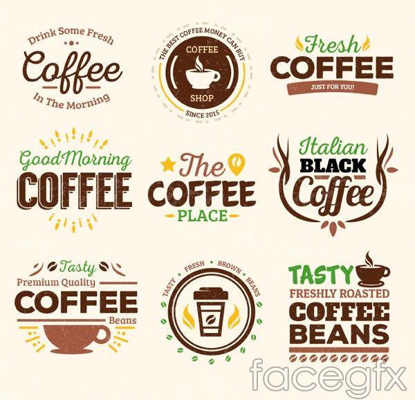 Coffee Shop Retro Logo Pack