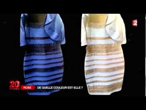 Robe blanc doree ou bleu noir