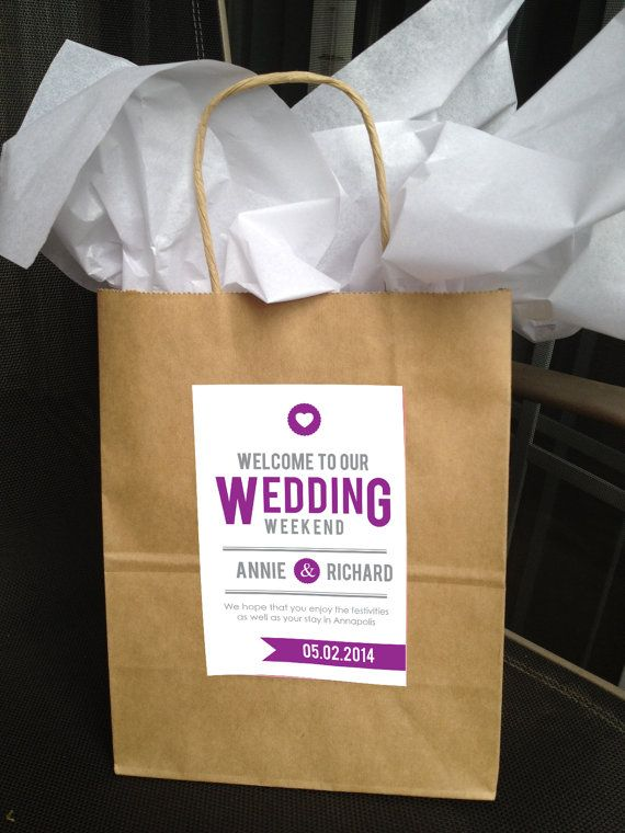 Printable Ultra Modern Wedding Welcome Bag Labels Lovely Little Party