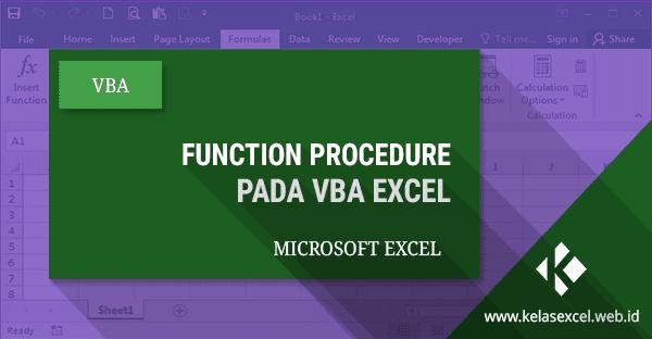 Function Procedure Pada Vba Excel 08 Microsoft Excel Microsoft