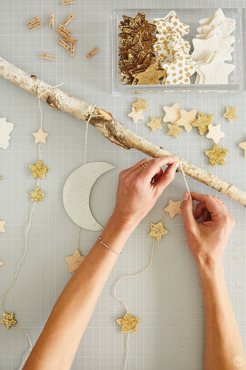 Create your own dreamy room decor with a DIY star wall hanging - Think.Make.Share.
