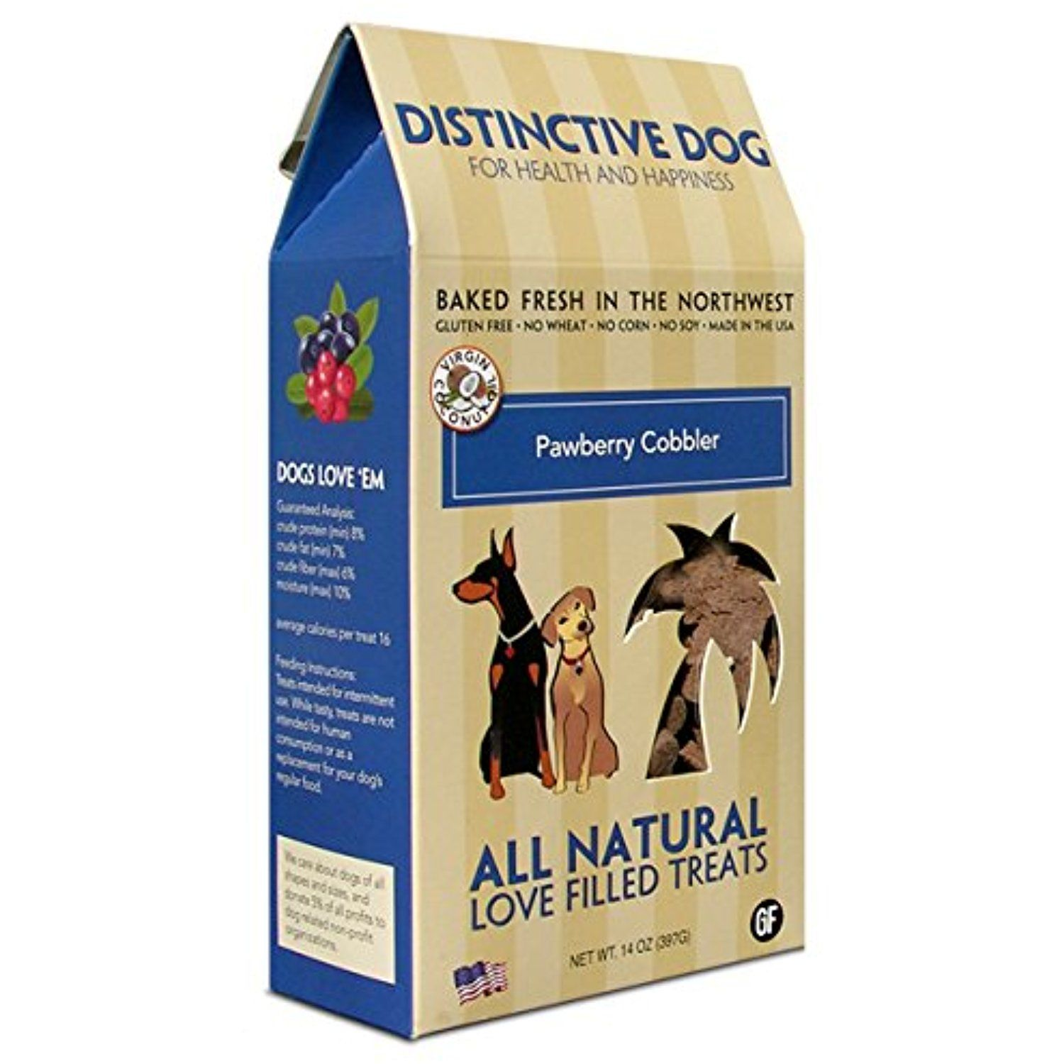 Distinctive Dog Pawberry Cobbler Dog Treats 14 Ounce You Can