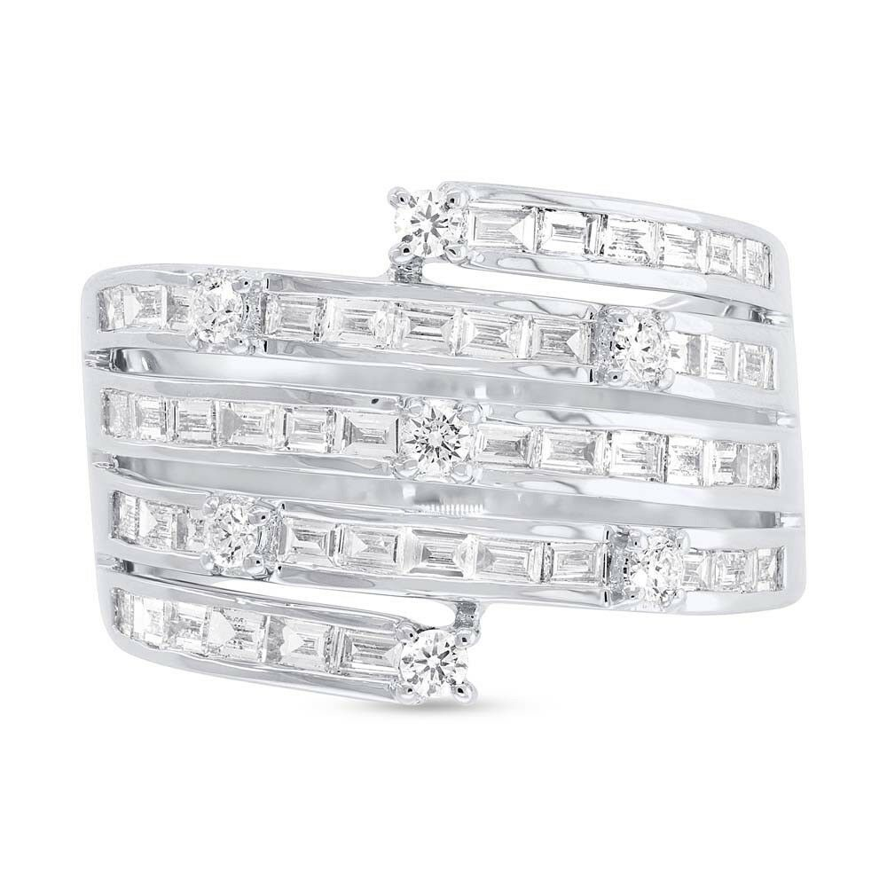 Details About 1 10ct 14k White Gold Channel Set Baguette Diamond