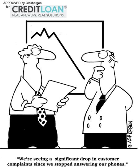 Finance Cartoons: Funny Cartoon About Customer Service!