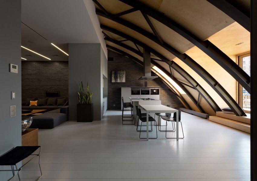 Alex Obraztsov Designs a Stylish Loft in Kiev, Ukraine interiors - interior trend modern gestein