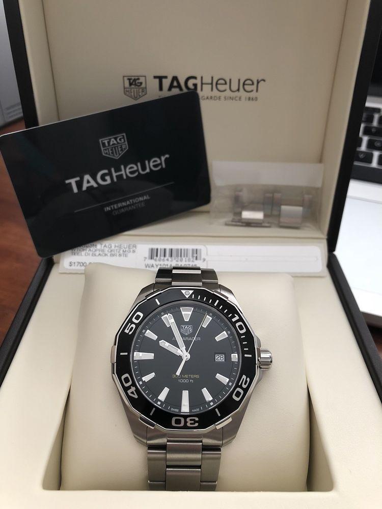 Tag Heuer Aquaracer Quartz 43mm Mens Watch WAY101A.BA0746 ...