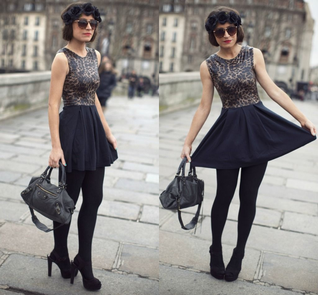 How to skater wear skirt with tights video