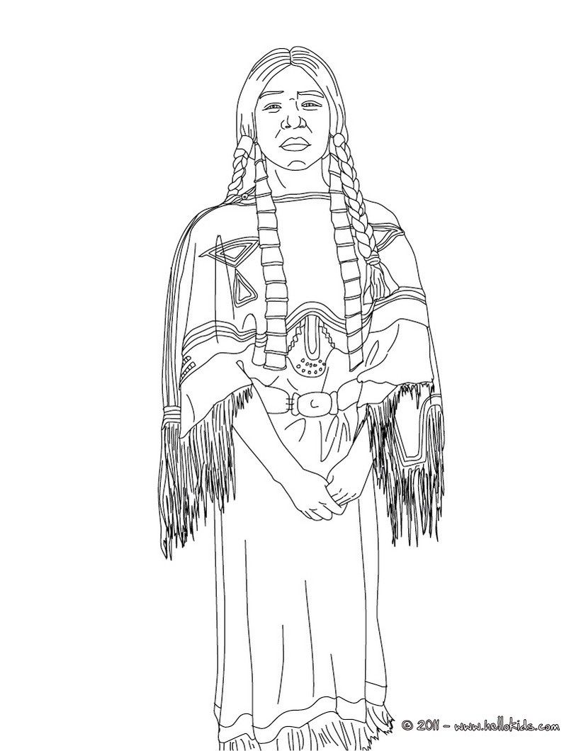 SACAJAWEA coloring page People coloring pages, Coloring
