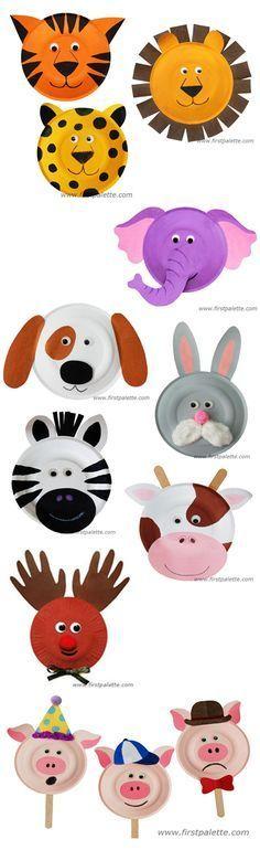 Animais No Pratinho De Papelo Draw Paint Dibujos Pintura