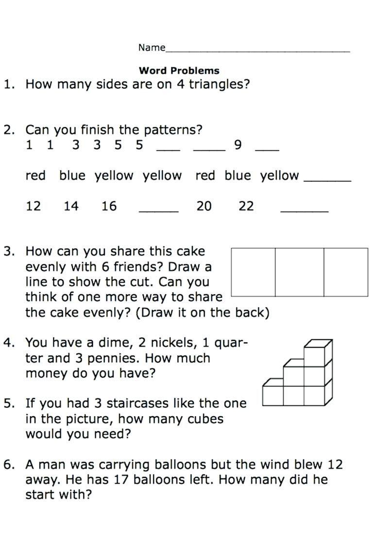 Kindergarten Math Word Problems Worksheets Worksheet For Kindergarten Word Problem Worksheets Math Fact Worksheets Word Problems 3rd grade math addition word problems