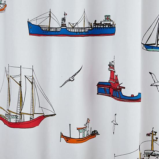 Maritime Shower Curtain | The Land Of Nod
