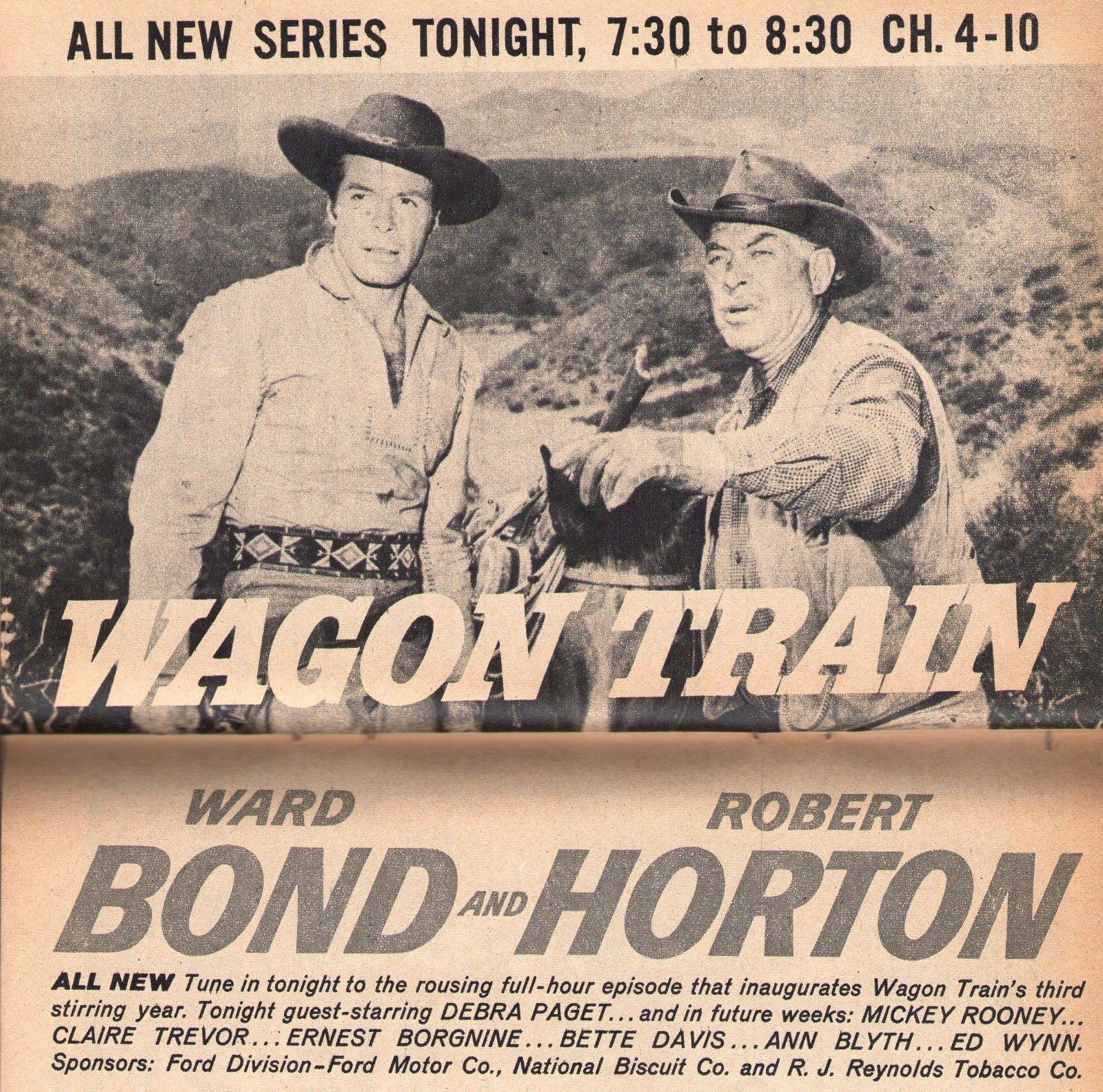 1959 TV ARTICLE~WAGON TRAIN PREMIERE~ROBERT HORTON WARD BOND~TELEVISION WESTERN | eBay