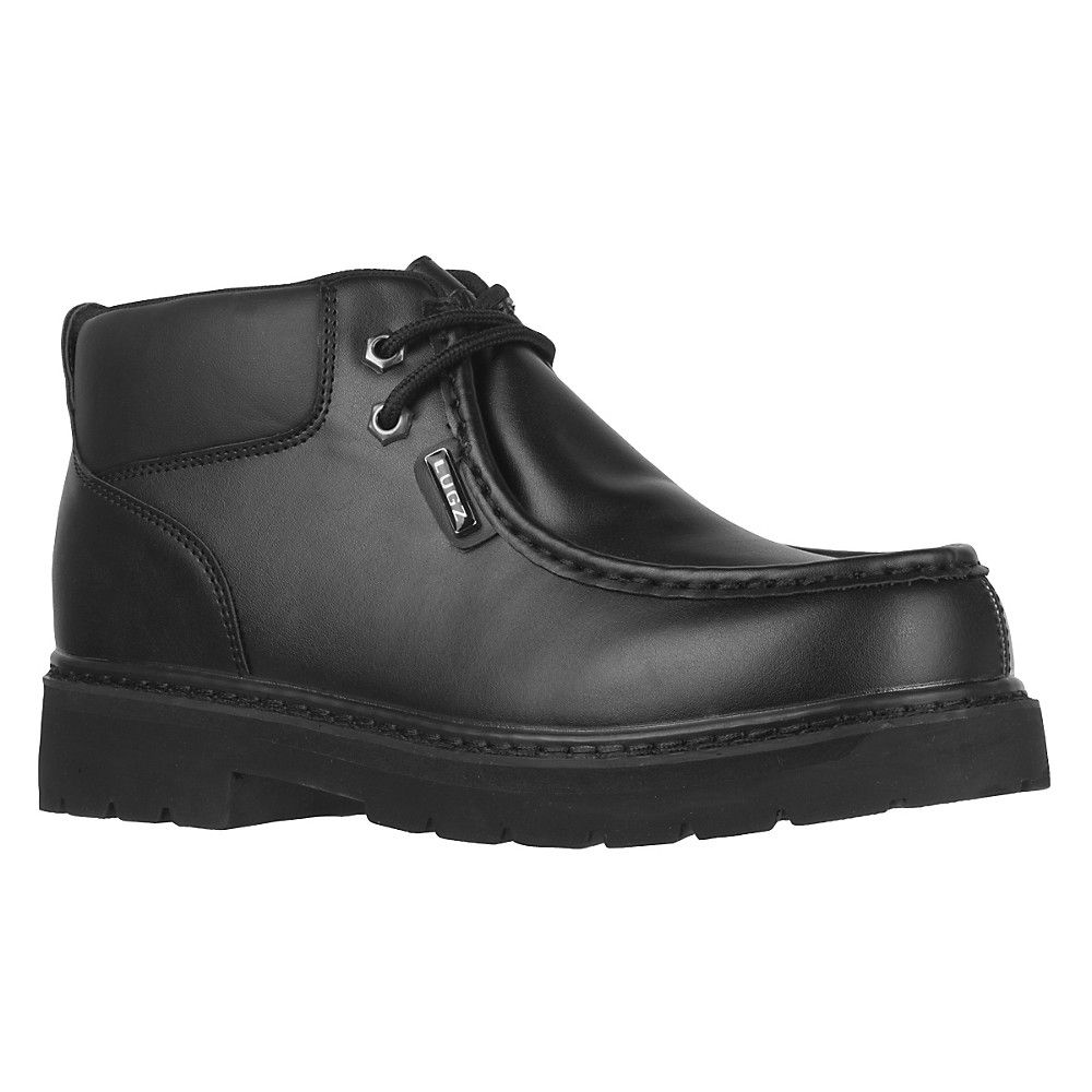 Lugz Mens Black Boots Leather Walker