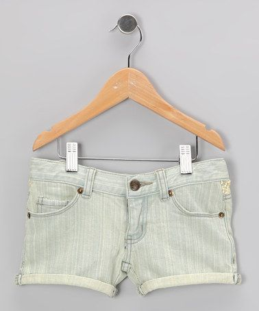Take a look at this Light Blue Shorts - Girls by blü on #zulily today!
