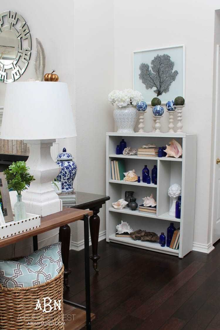 How to update a boring bookcase with chalk furniture paint crafts