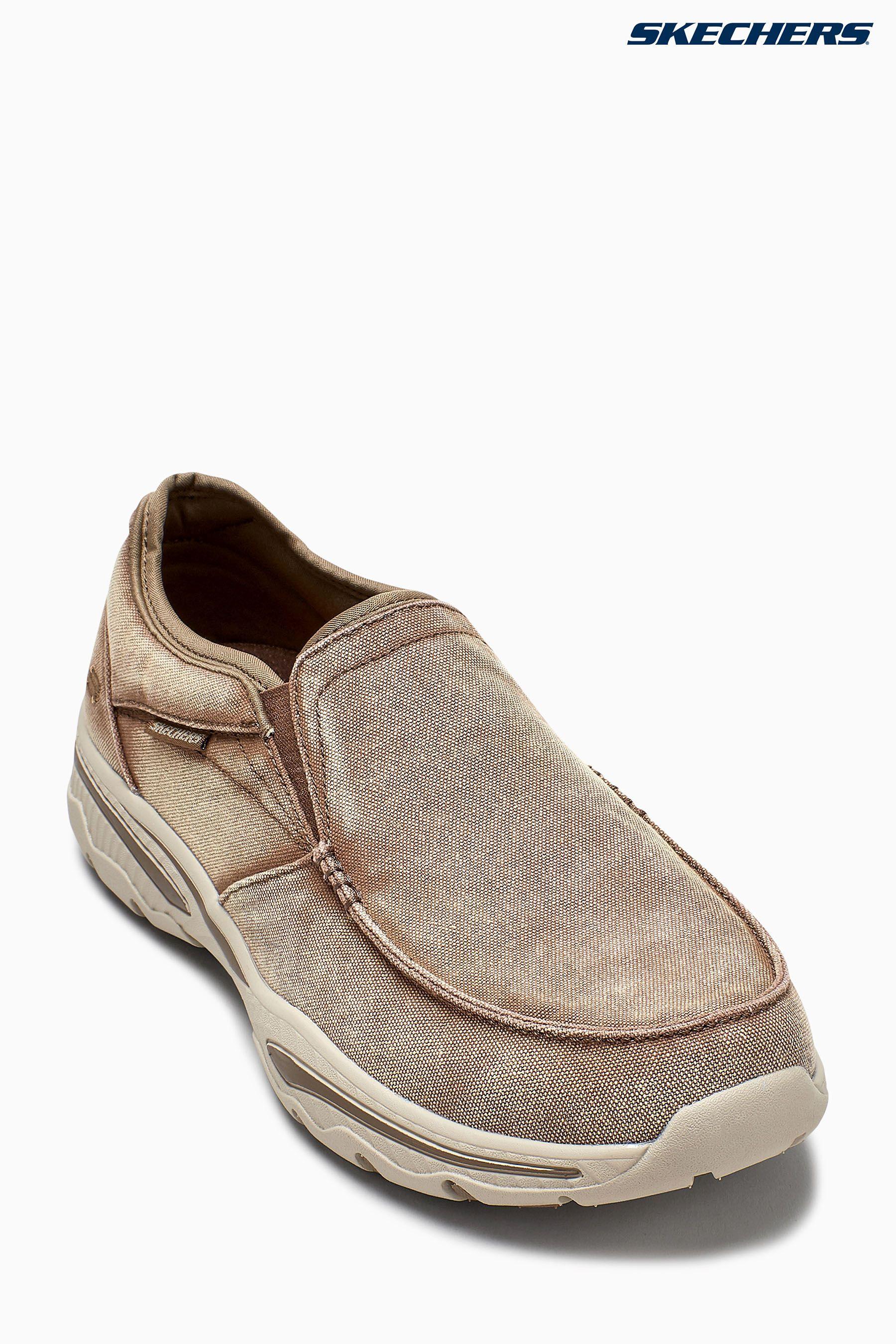 Mens Skechers Brown Toe Slip-On With
