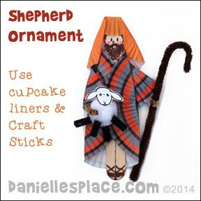 Shepherd Craft Made From Cupcake Liners From Www
