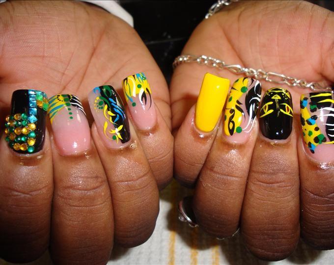 JAMAICAN JUNGLE - Nails Art photos, nail art design. List 2016 JAMAICAN  JUNGLE stylist - JAMAICAN JUNGLE - Nails Art Photos, Nail Art Design. List 2016