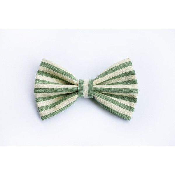 Men's striped bow tie yellow mustard, sage green bow tie for... ($25) ❤ liked on Polyvore featuring men's fashion, men's accessories, men's neckwear, bow ties and mens bow ties