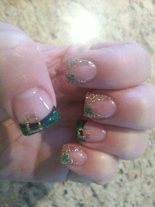 St Patrick\'s Day nails | Nails..... | Pinterest | Uñas hermosas ...