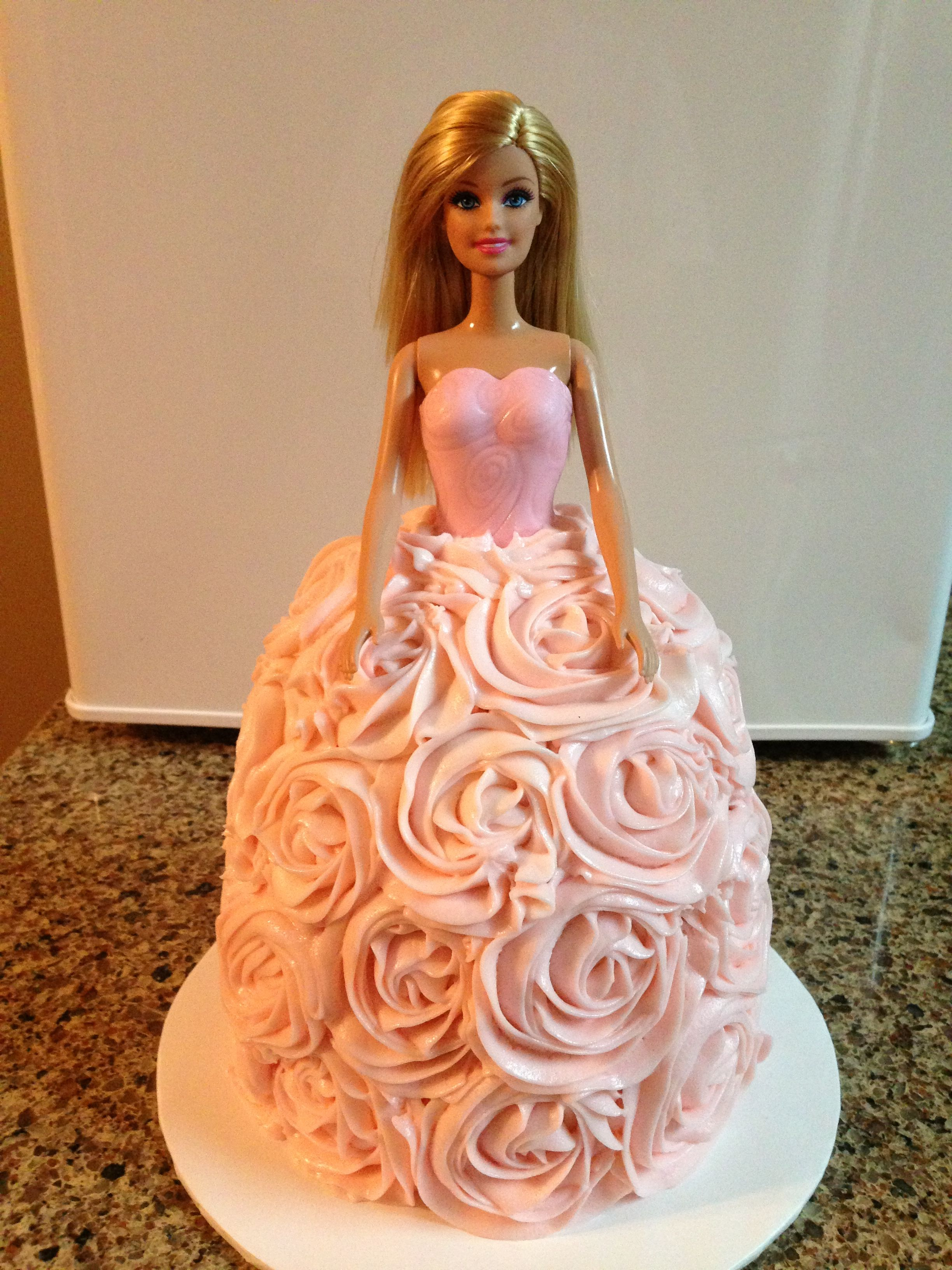 Barbie Cake Made From 2 6 Inch Layers And A Deep Cereal