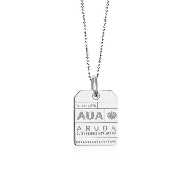 Jet Set Candy AUA Aruba Luggage Tag Charm from www.myjetsetcandy.com ✈ Collect Your Adventures ✈