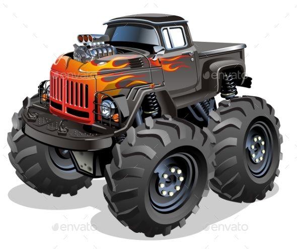 Cartoon Monster Truck Monster Trucks Car Cartoon Monster Truck Art