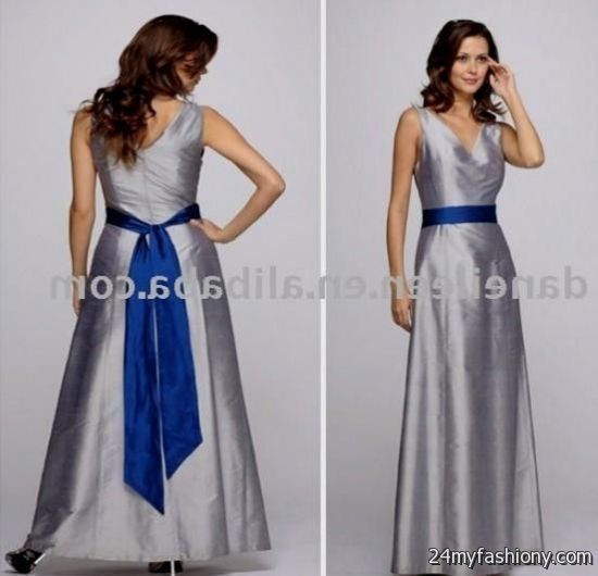 Silver And Royal Blue Bridesmaid Dresses Http Www Lanlanbridals