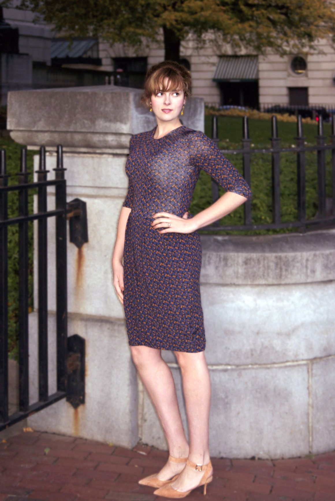 Review of the Simone Dress ($195) in Triple Crown, a tall girl-friendly day to evening jersey dress from Leota New York.