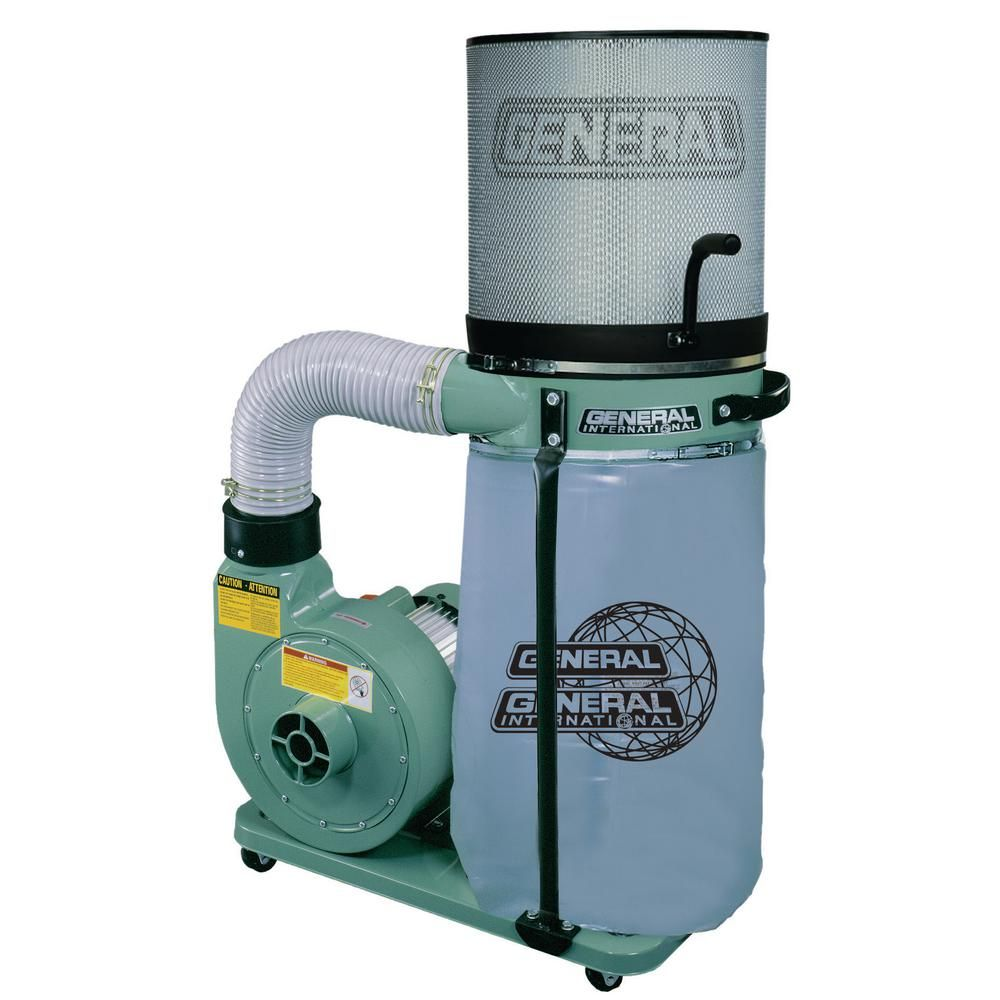General International 1 Hp 700 Cfm Vertical Bag Dust Collector With Micron Filter