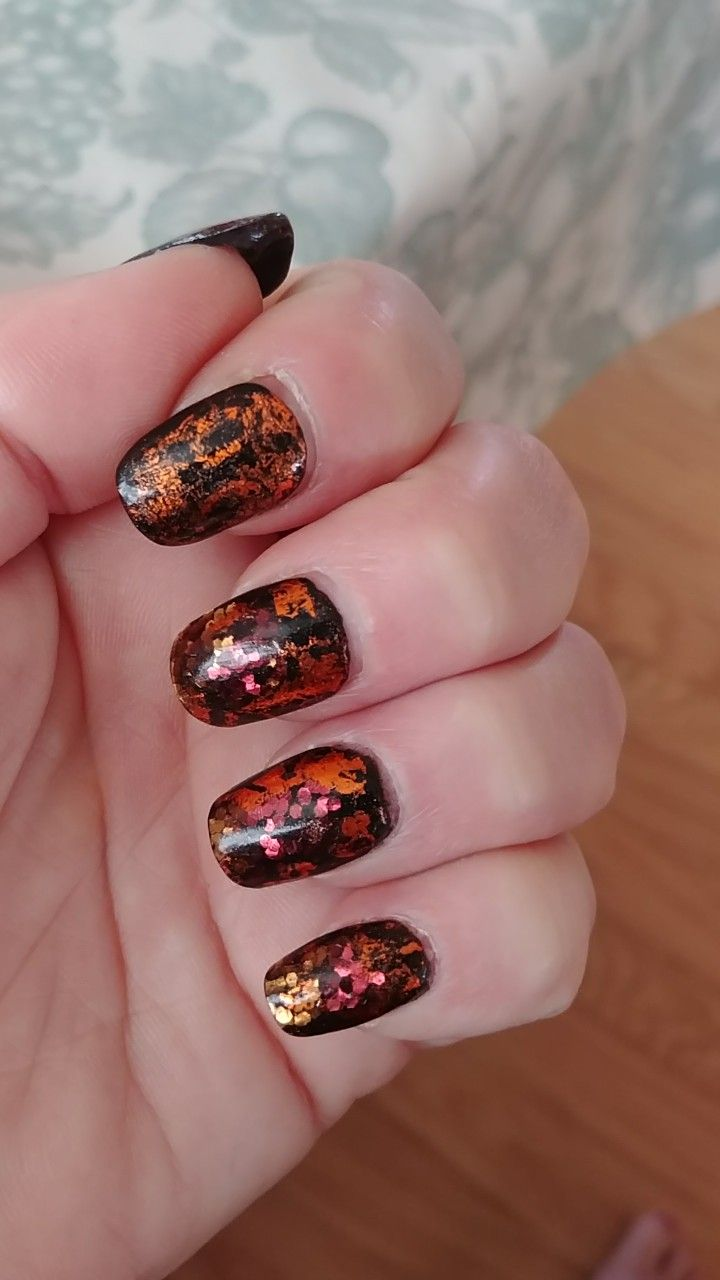 Touched up the old mani/fill work some copper foils on top. The ...