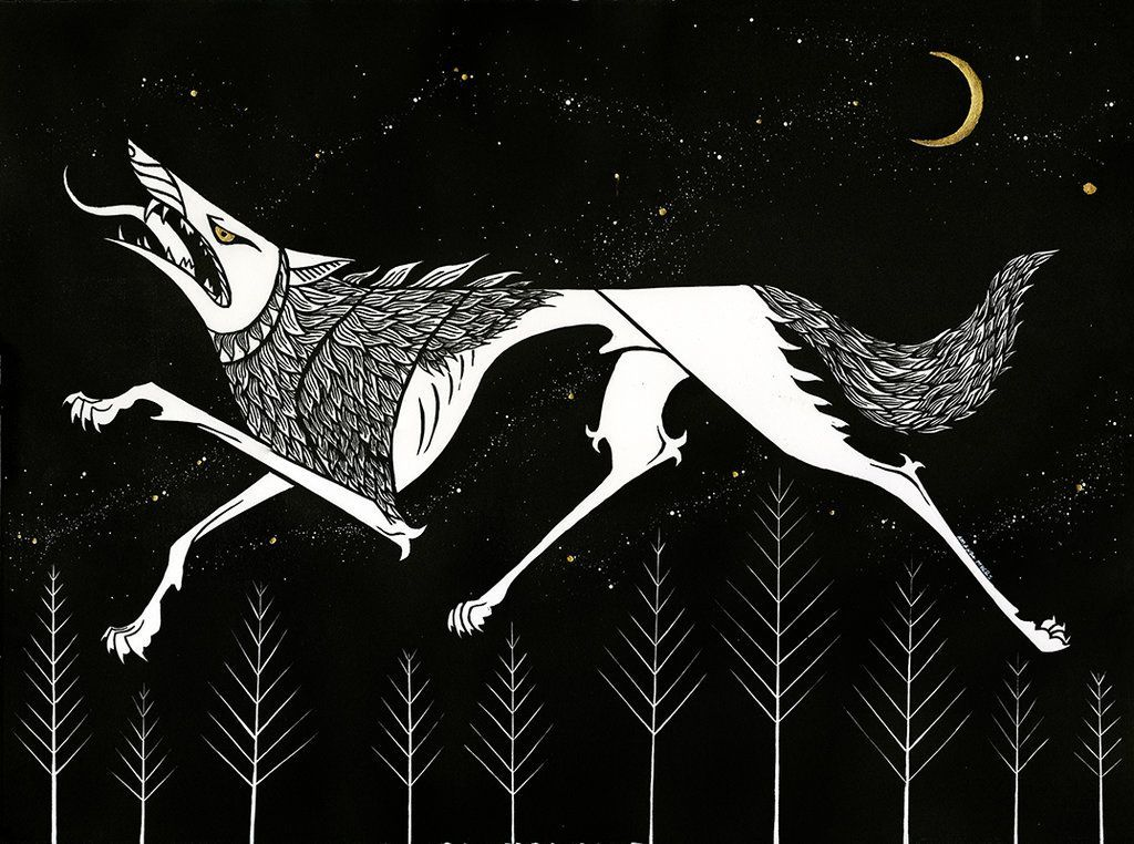 Image result for ancient wolf art