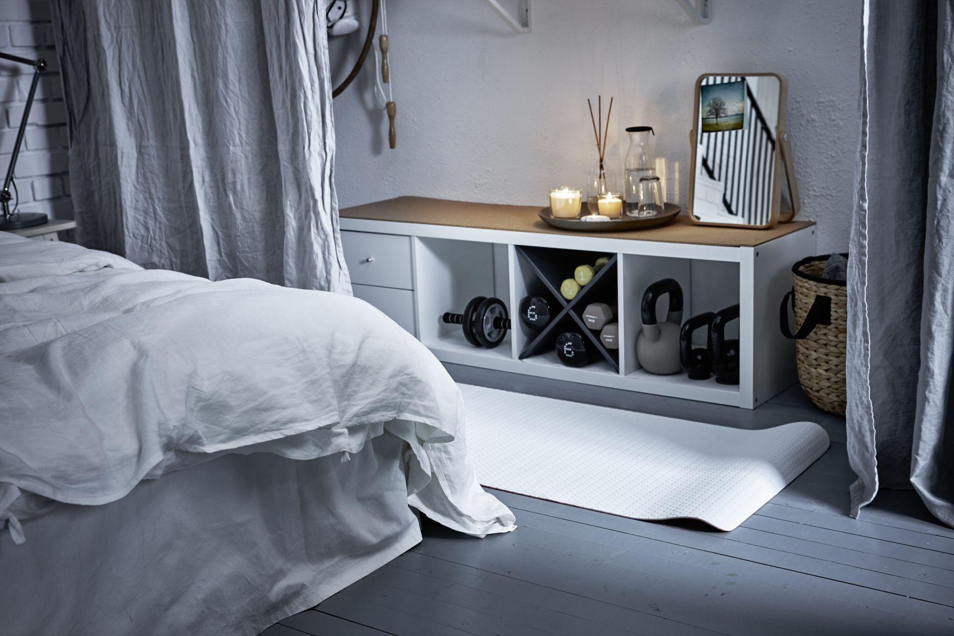 KALLAX Open kast, wit, 42x147 cm - IKEA | Home gym kamer, Home gym decor, Open kast