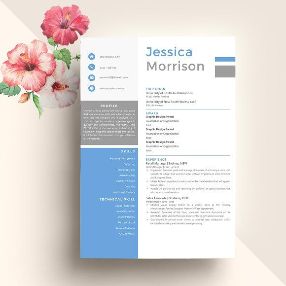 CV Professional Resume Template by Indograph on @creativemarket - cv it professional