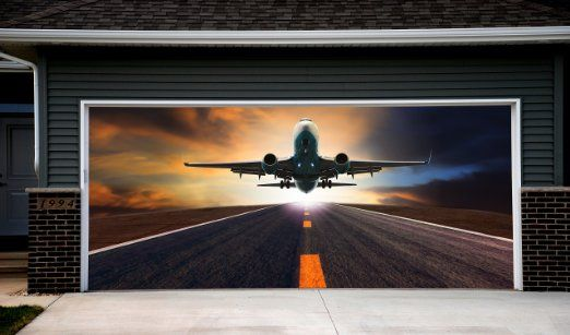 Plane Multicolor Decor For Garage Door 3d Banner Plane Aircraft