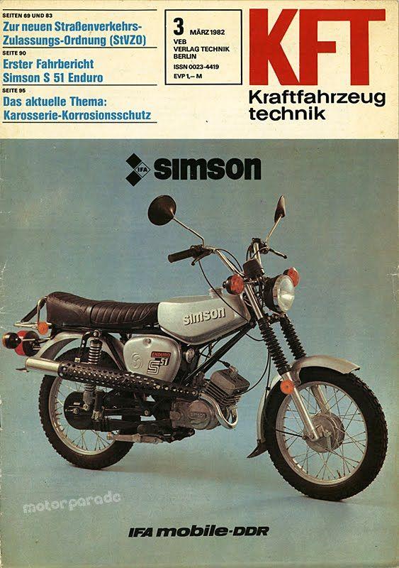 kraftfahrzeug technik simson s51 enduro ddr 1982 moto. Black Bedroom Furniture Sets. Home Design Ideas