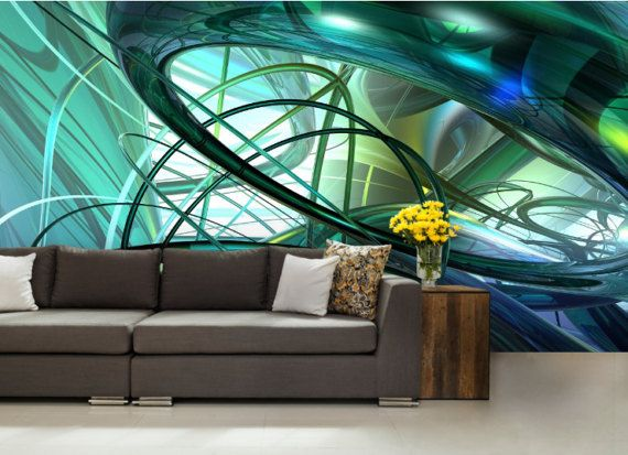 3d Abstract Mural Wave Wall Mural Vector Wave Wall By 4kdesignwall Wall Murals Abstract Mural