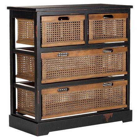 Found It At Wayfair Jackson 4 Drawer Chest In Black 4 Drawer Storage Unit Drawer Storage Unit Storage Unit