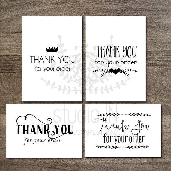 Printable thank you tags, customer gift tags, printable tags, Etsy
