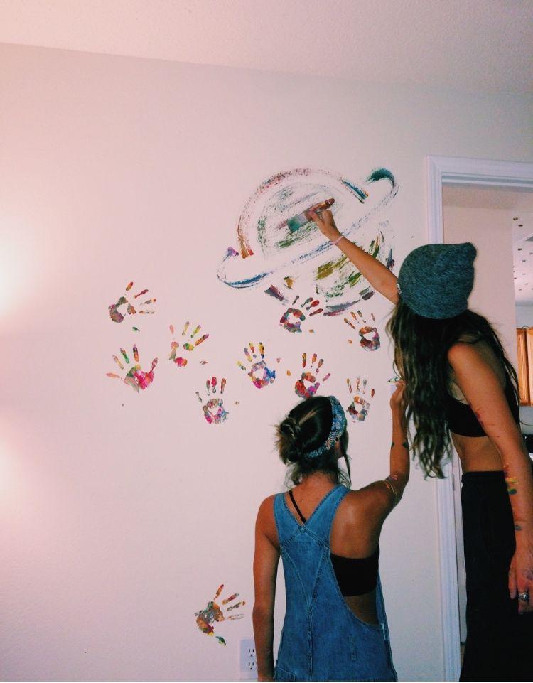 Pin Halle Annemarie Vsco Legithallezub Painted Doors Bedroom Doors Wall Painting