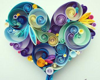 Arte di carta quilled: Love is All Around di SenaRuna su Etsy