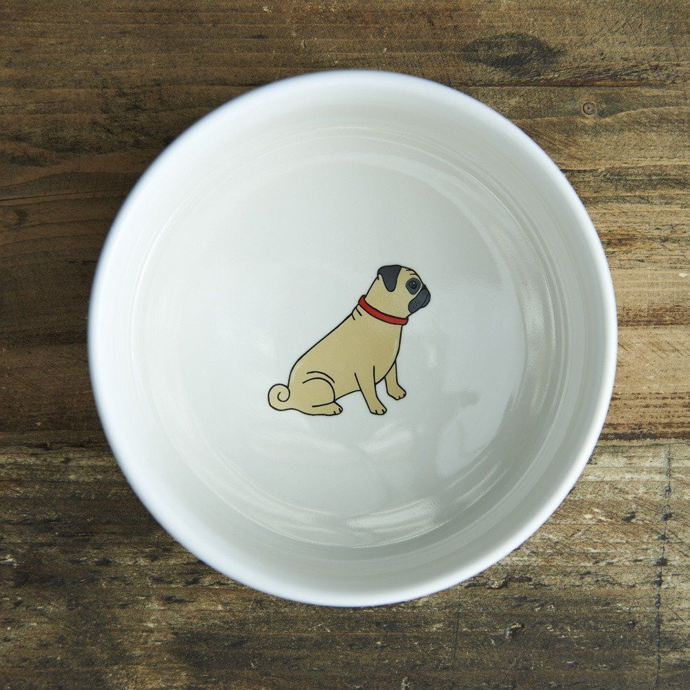 Sweet William Ceramic Pug Dog Bowl