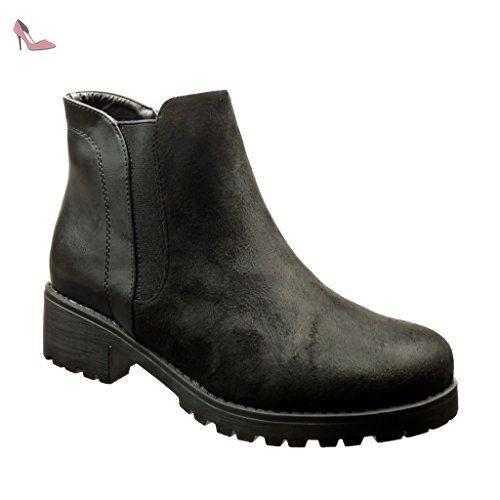 Bottine Chelsea Mode Matière Boots Femme Bi Angkorly Chaussure wf1xRnqwE