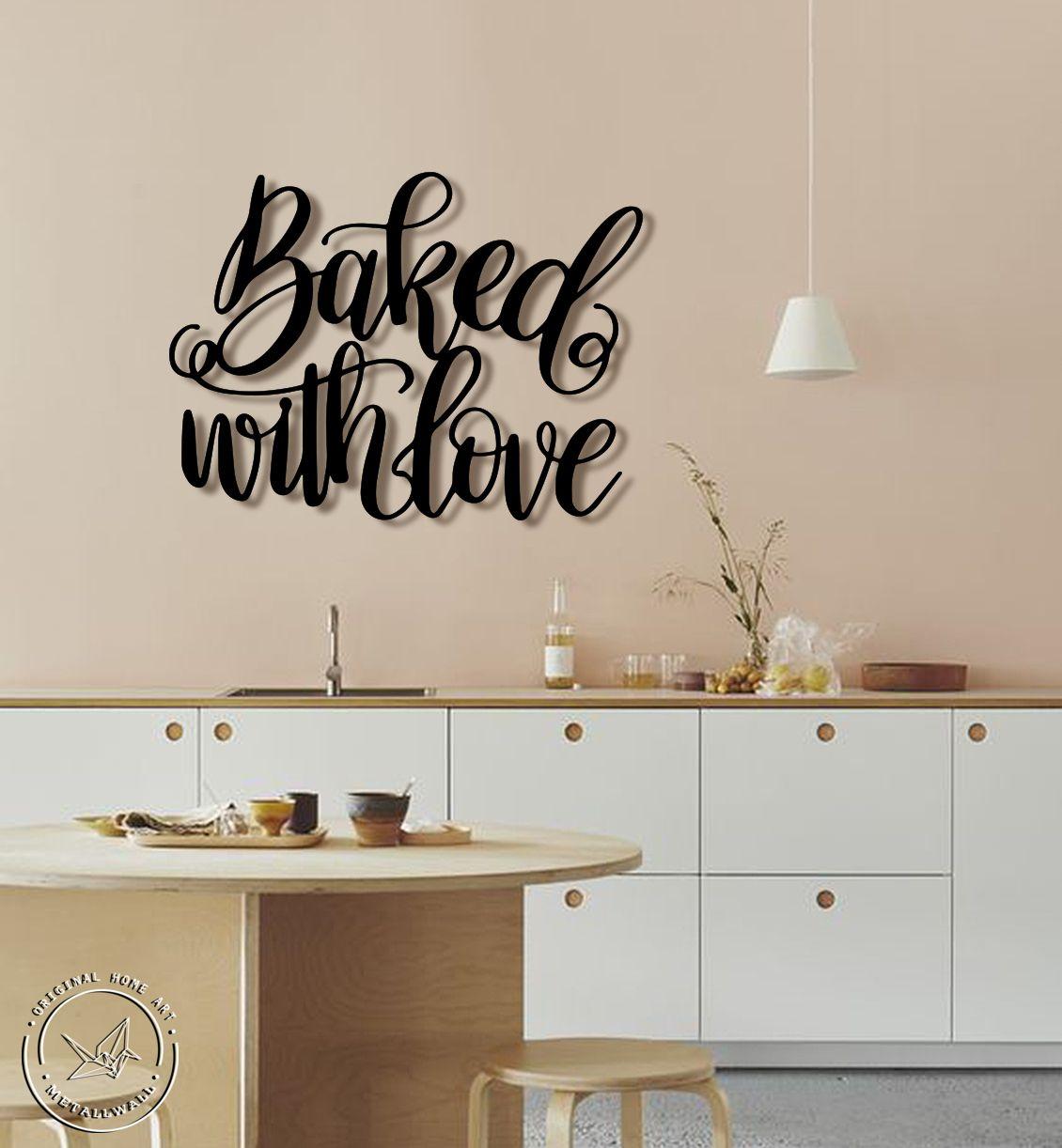 Kitchen wall art ideas, dining wall sign, metal wall art, wall