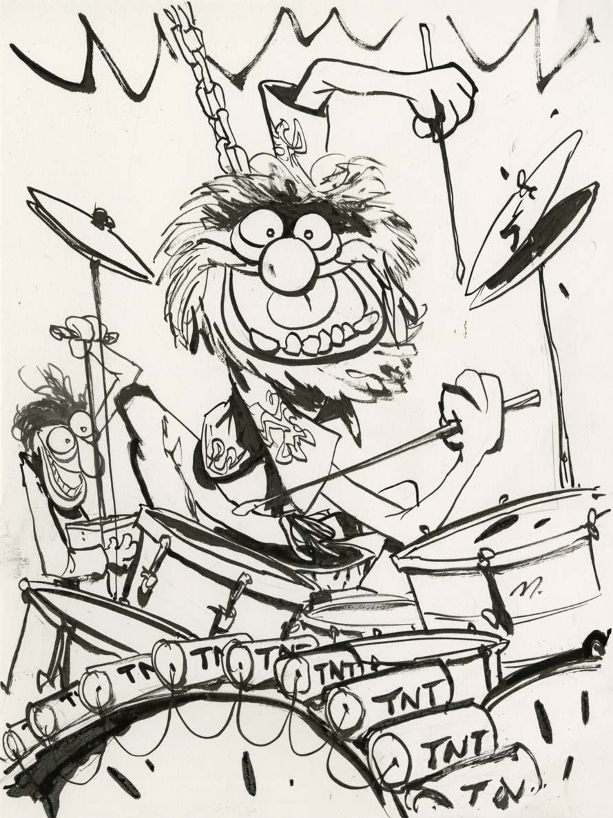 Animal from the Muppets with a more complex and detailed use of the ...