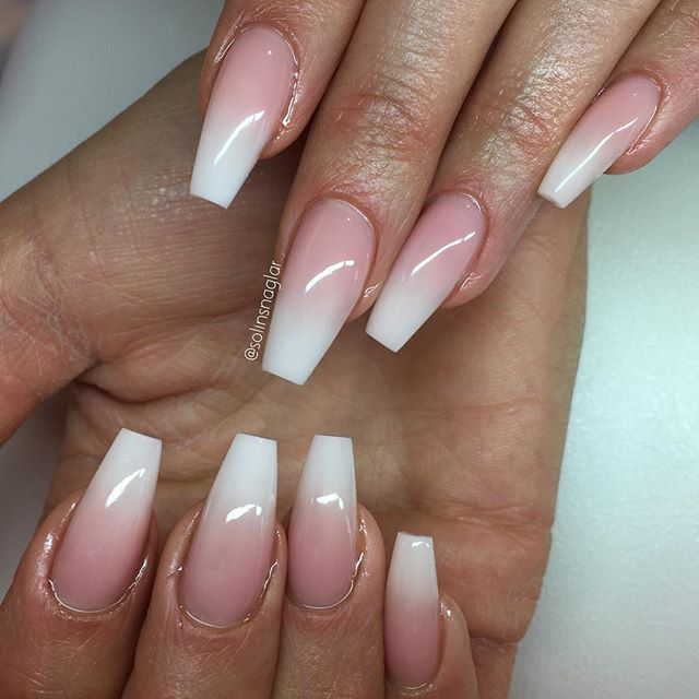 French Ombre | Nails | Pinterest | Ombre, Nail nail and Coffin nails